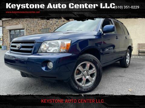 2005 Toyota Highlander for sale at Keystone Auto Center LLC in Allentown PA