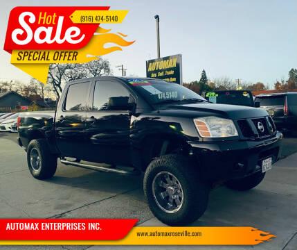 2006 Nissan Titan for sale at AUTOMAX ENTERPRISES INC. in Roseville CA