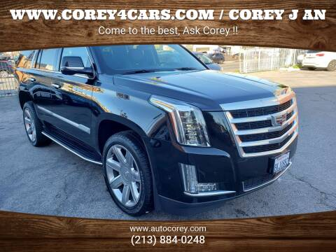2019 Cadillac Escalade for sale at WWW.COREY4CARS.COM / COREY J AN in Los Angeles CA