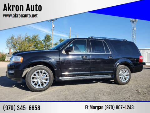 2016 Ford Expedition EL for sale at Akron Auto in Akron CO