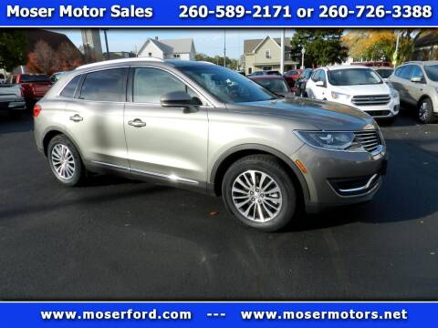 2016 Lincoln MKX for sale at Moser Motors Of Portland in Portland IN