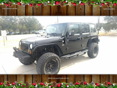 2010 Jeep Wrangler Unlimited for sale at Solo Auto Group in Mckinney TX