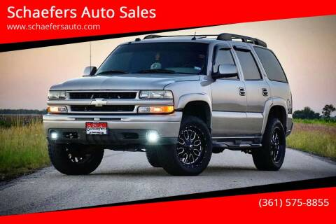 2005 Chevrolet Tahoe for sale at Schaefers Auto Sales in Victoria TX