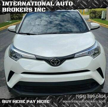 2018 Toyota C-HR for sale at INTERNATIONAL AUTO BROKERS INC in Hollywood FL