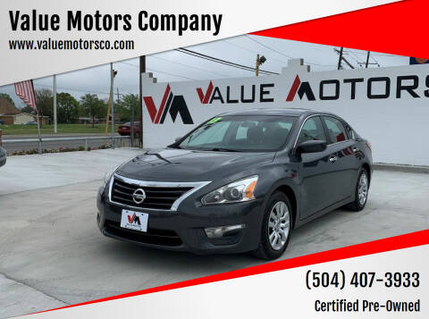2013 Nissan Altima for sale at Value Motors Company in Marrero LA