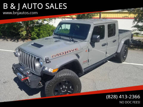 2020 Jeep Gladiator for sale at B & J AUTO SALES in Morganton NC