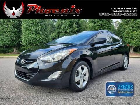 2013 Hyundai Elantra for sale at Phoenix Motors Inc in Raleigh NC