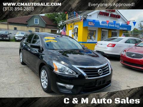 2015 Nissan Altima for sale at C & M Auto Sales in Detroit MI