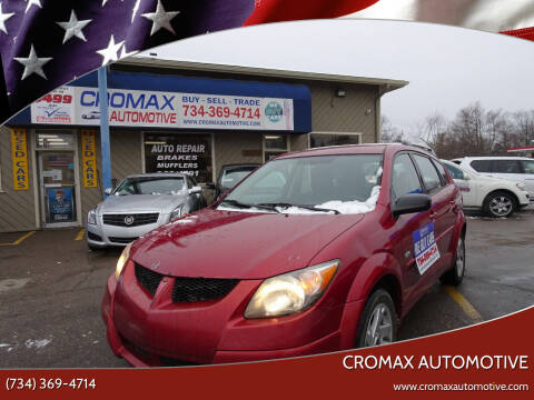 2003 Pontiac Vibe for sale at Cromax Automotive in Ann Arbor MI