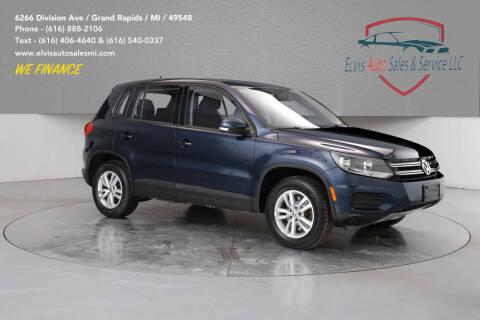 2012 Volkswagen Tiguan for sale at Elvis Auto Sales LLC in Grand Rapids MI
