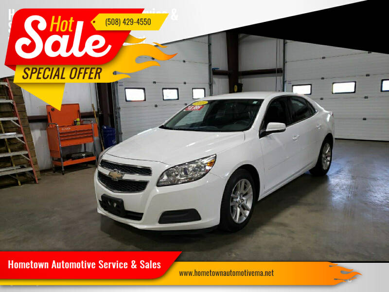 2013 Chevrolet Malibu for sale at Hometown Automotive Service & Sales in Holliston MA