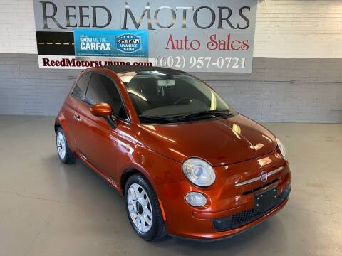 2012 FIAT 500c for sale at REED MOTORS LLC in Phoenix AZ
