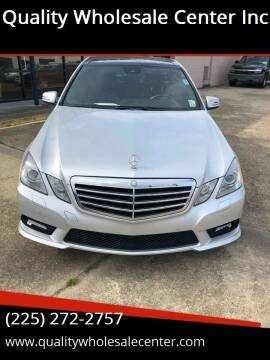 2010 Mercedes-Benz E-Class for sale at Quality Wholesale Center Inc in Baton Rouge LA