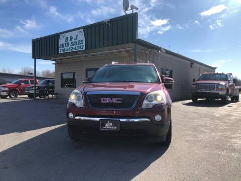 2011 GMC Acadia for sale at B & J Auto Sales in Auburn KY