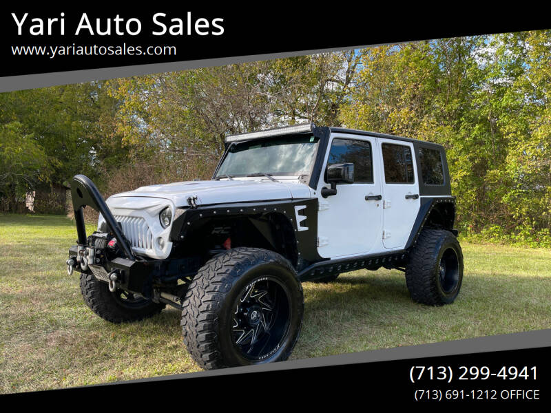 2014 Jeep Wrangler Unlimited for sale at Yari Auto Sales in Houston TX