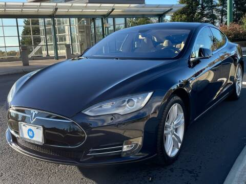 2014 Tesla Model S for sale at GO AUTO BROKERS in Bellevue WA
