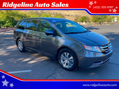 2014 Honda Odyssey for sale at Ridgeline Auto Sales in Saint George UT
