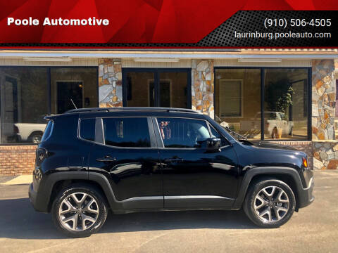 2017 Jeep Renegade for sale at Poole Automotive in Laurinburg NC
