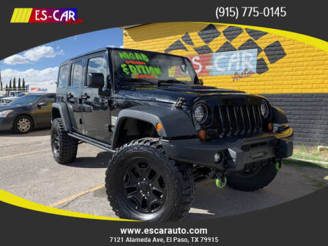 2013 Jeep Wrangler Unlimited for sale at Escar Auto in El Paso TX
