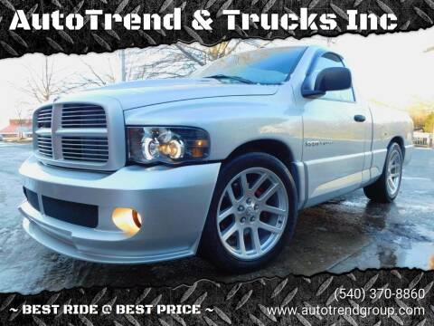 2004 Dodge Ram Pickup 1500 SRT-10 for sale at AutoTrend & Trucks Inc in Fredericksburg VA