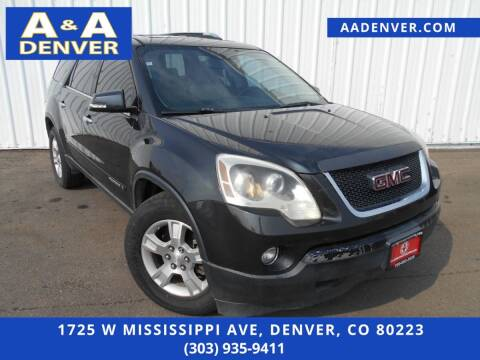 2007 GMC Acadia for sale at A & A AUTO LLC in Denver CO