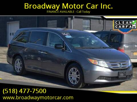 2011 Honda Odyssey for sale at Broadway Motor Car Inc. in Rensselaer NY
