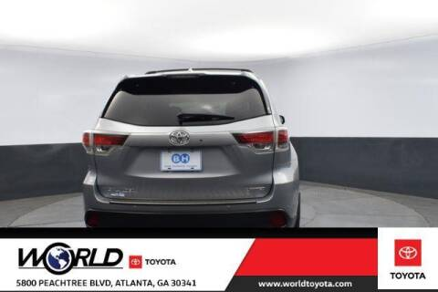 2016 Toyota Highlander for sale at CU Carfinders in Norcross GA