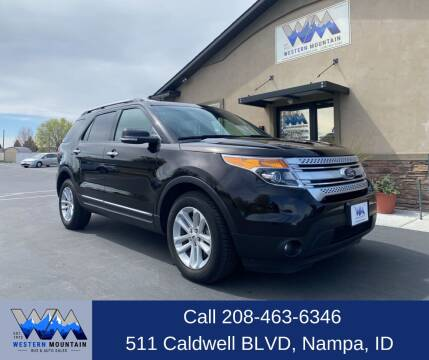 2013 Ford Explorer for sale at Western Mountain Bus & Auto Sales in Nampa ID