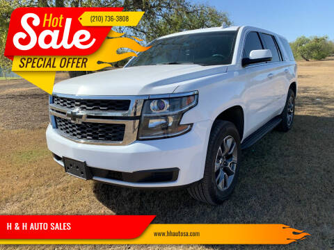 2017 Chevrolet Tahoe for sale at H & H AUTO SALES in San Antonio TX
