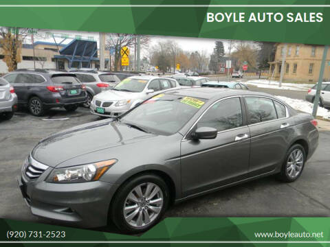 2012 Honda Accord for sale at Boyle Auto Sales in Appleton WI