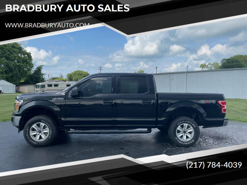 2018 Ford F-150 for sale at BRADBURY AUTO SALES in Gibson City IL