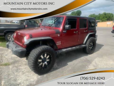 2011 Jeep Wrangler Unlimited for sale at MOUNTAIN CITY MOTORS INC in Dalton GA