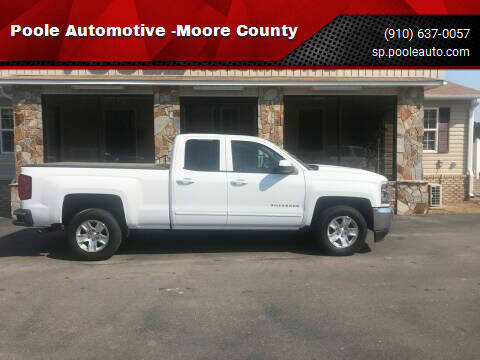 2018 Chevrolet Silverado 1500 for sale at Poole Automotive in Laurinburg NC