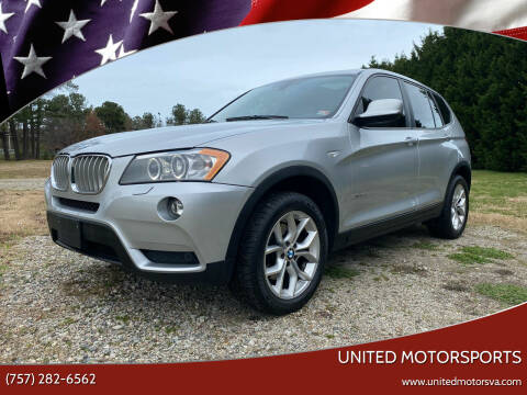 2014 BMW X3 for sale at United Motorsports in Virginia Beach VA
