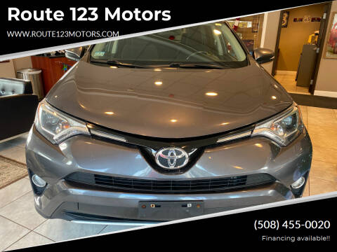 2016 Toyota RAV4 for sale at Route 123 Motors in Norton MA