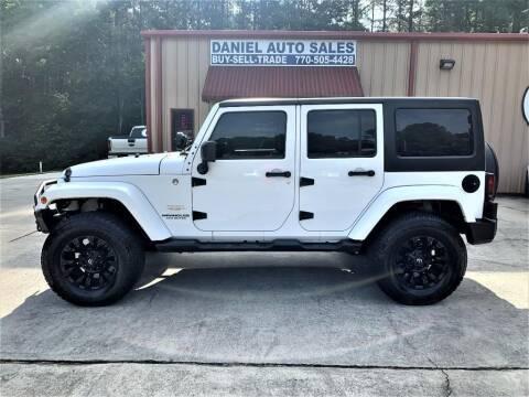 2014 Jeep Wrangler Unlimited for sale at Daniel Used Auto Sales in Dallas GA