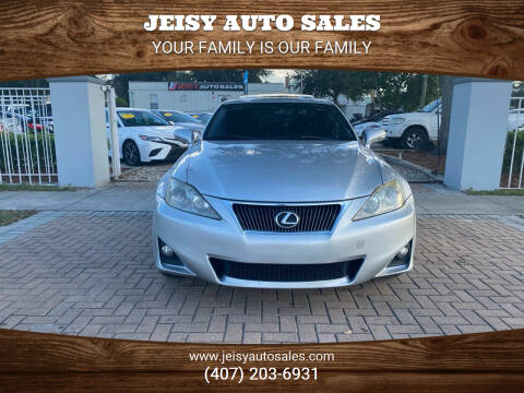2012 Lexus IS 250 for sale at JEISY AUTO SALES in Orlando FL