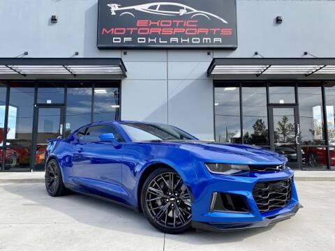 2018 Chevrolet Camaro for sale at Exotic Motorsports of Oklahoma in Edmond OK