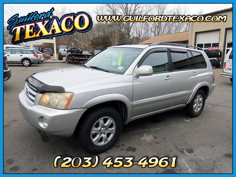 2002 Toyota Highlander for sale at GUILFORD TEXACO in Guilford CT