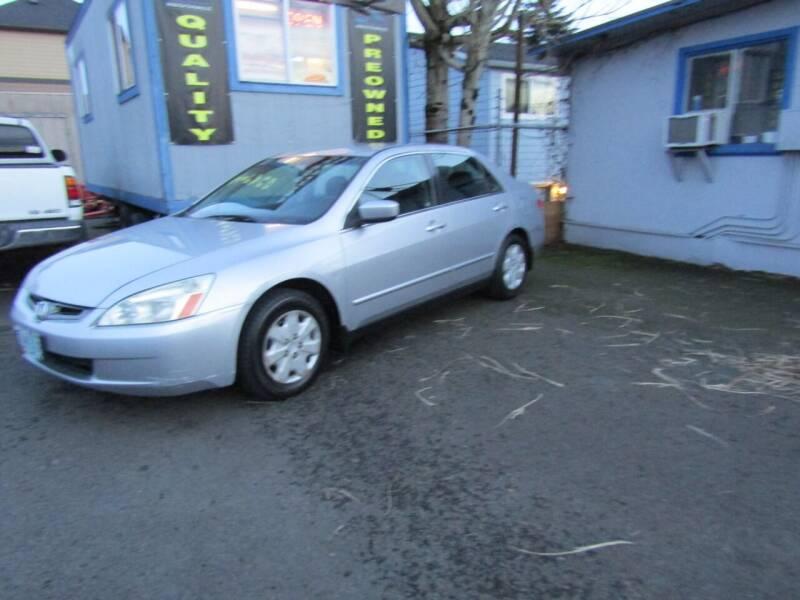 2003 Honda Accord for sale at ARISTA CAR COMPANY LLC in Portland OR