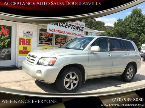 2006 Toyota Highlander for sale at Acceptance Auto Sales Douglasville in Douglasville GA