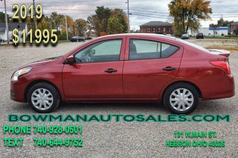 2019 Nissan Versa for sale at Bowman Auto Sales in Hebron OH