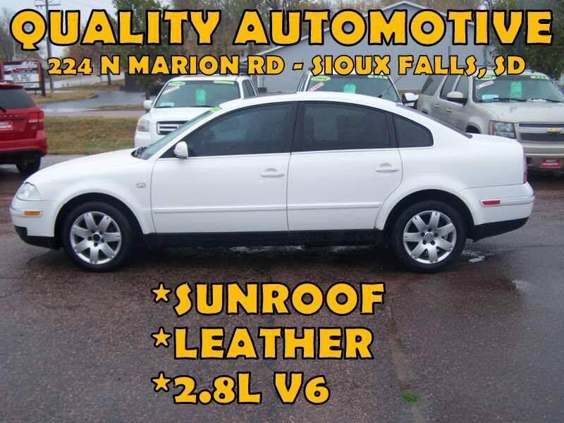 2002 Volkswagen Passat for sale at Quality Automotive in Sioux Falls SD