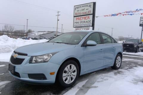 2012 Chevrolet Cruze for sale at Premier Auto Sales Inc. in Big Rapids MI
