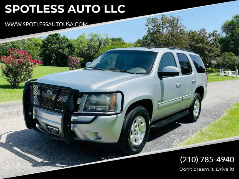 2011 Chevrolet Tahoe for sale at SPOTLESS AUTO LLC in San Antonio TX