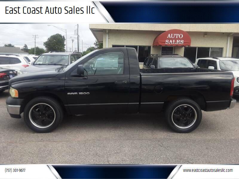 2003 Dodge Ram Pickup 1500 for sale at East Coast Auto Sales llc in Virginia Beach VA