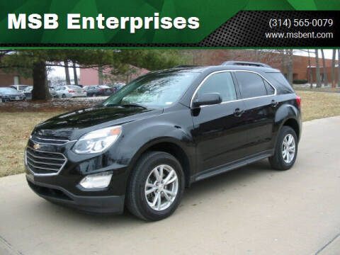 2017 Chevrolet Equinox for sale at MSB Enterprises in Fenton MO
