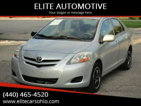 2008 Toyota Yaris for sale at ELITE CARS OHIO LLC in Solon OH