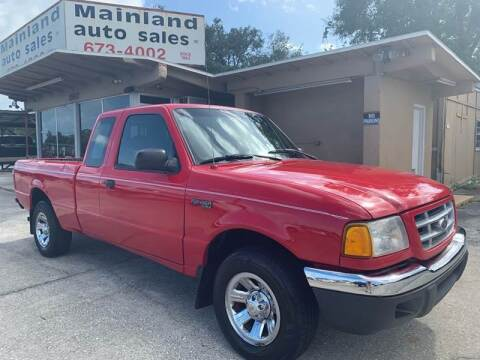 2001 Ford Ranger for sale at Mainland Auto Sales Inc in Daytona Beach FL