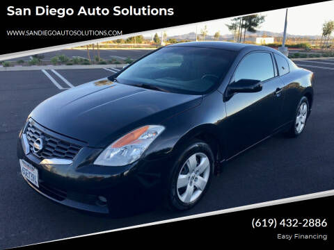 2008 Nissan Altima for sale at San Diego Auto Solutions in Escondido CA